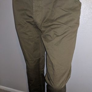 H&M Olive Casual Pants Size 34 Great Condition